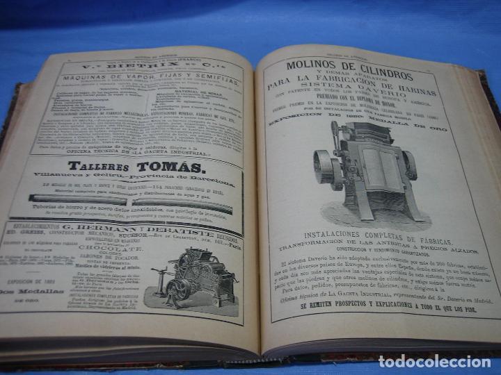 Libros antiguos: La gaceta industrial. Económica y científica 1890. Revista de electricidad - Foto 9 - 111460379