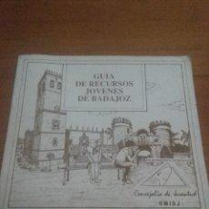Libros antiguos: GUÍA DE RECURSOS JÓVENES DE BADAJOZ. EST17B4. Lote 111463575