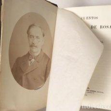 Libros antiguos: ANTONIO DE TRUEBA : CUENTOS DE COLOR DE ROSA Y CUENTOS POPULARES. 1864 (2 OBRAS EN 1 VOL . Lote 111463619