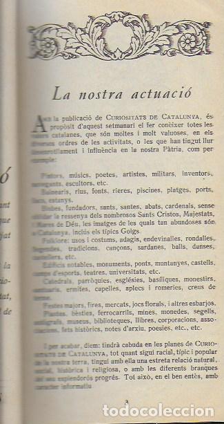 Libros antiguos: Setmanari Curiositats de Catalunya Volum 1 de l1 al 26. 22x12 cm. [806] pàg. + índexs semestre - Foto 4 - 111495811
