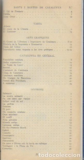 Libros antiguos: Setmanari Curiositats de Catalunya Volum 1 de l1 al 26. 22x12 cm. [806] pàg. + índexs semestre - Foto 11 - 111495811