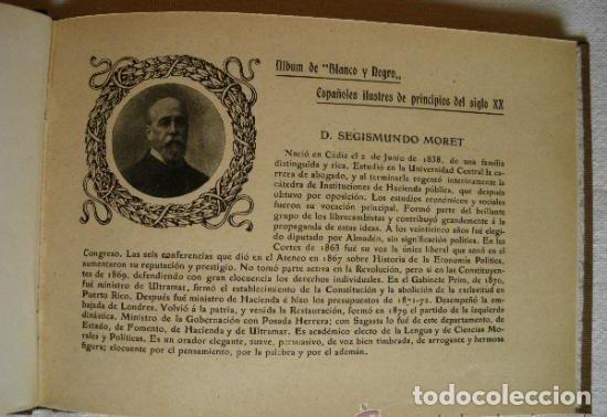 Libros antiguos: Album de Blanco y Negro. Españoles ilustres de principios del siglo XX. (1903). - Foto 2 - 111514411