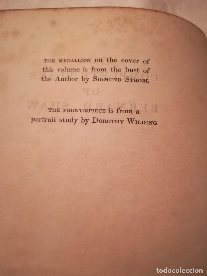 Libros antiguos: The complete plays of Bernard Shaw, en inglés, años 1930 (sin fecha) - Foto 3 - 111589535