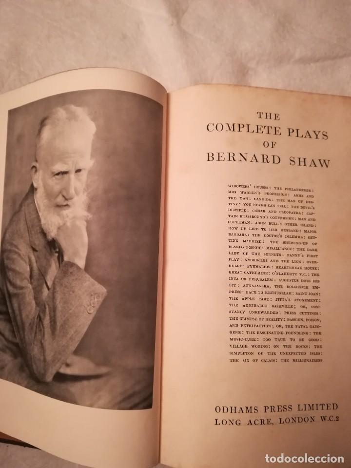 Libros antiguos: The complete plays of Bernard Shaw, en inglés, años 1930 (sin fecha) - Foto 4 - 111589535