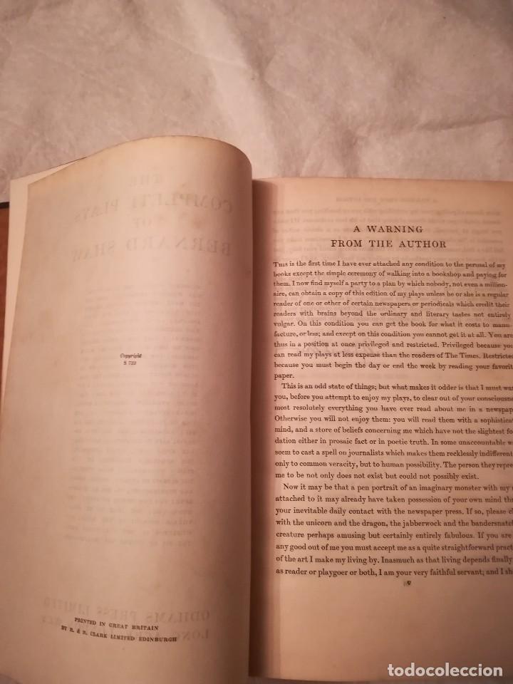 Libros antiguos: The complete plays of Bernard Shaw, en inglés, años 1930 (sin fecha) - Foto 5 - 111589535