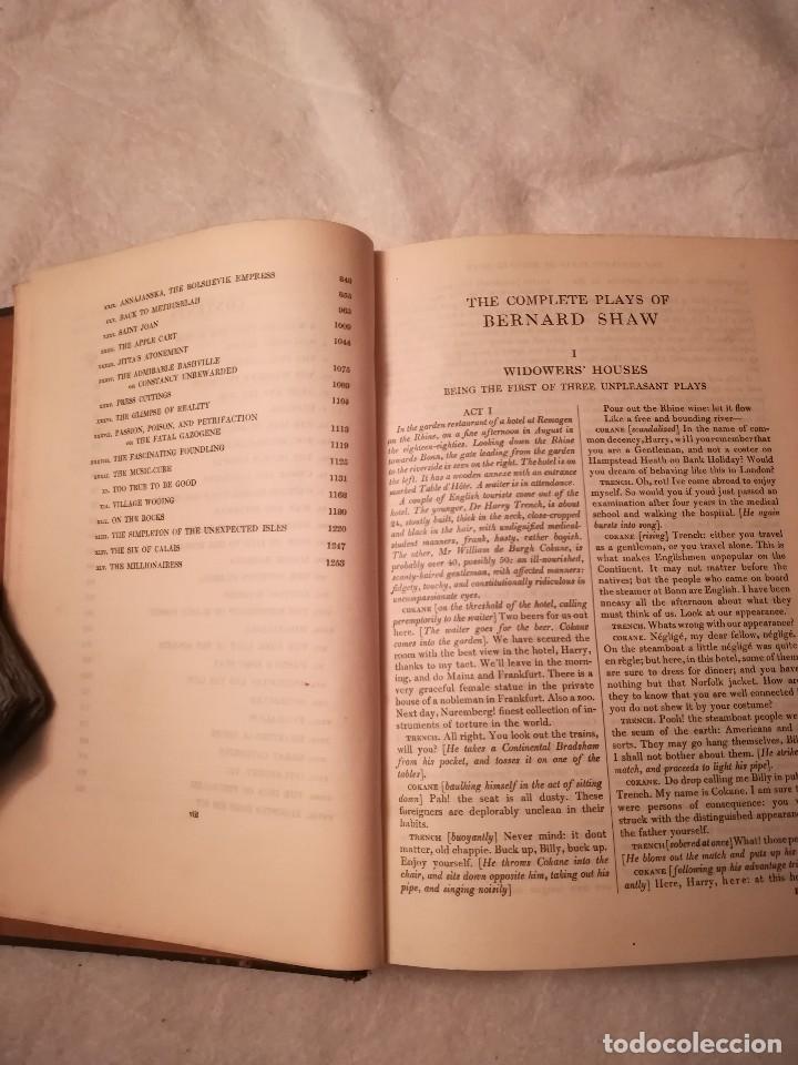 Libros antiguos: The complete plays of Bernard Shaw, en inglés, años 1930 (sin fecha) - Foto 7 - 111589535
