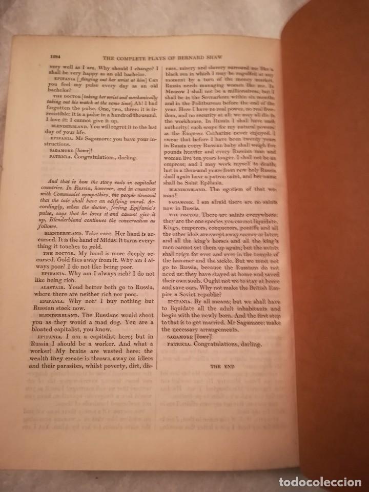 Libros antiguos: The complete plays of Bernard Shaw, en inglés, años 1930 (sin fecha) - Foto 9 - 111589535
