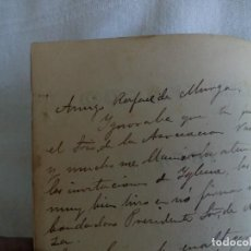 Libros antiguos: TUBAL NACIONALISMO VASCO MANUSCRITO FERNANDO DE ZABALA A RAFAEL DE MURGA 350 GR 15 CM AMI VASCO IBER. Lote 111674739