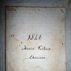 Libros antiguos: ANTIGUO LIBRO MANUSCRITO AÑO 1846 - FONDOS PUBLICOS·ACCIONES.. Lote 111693319