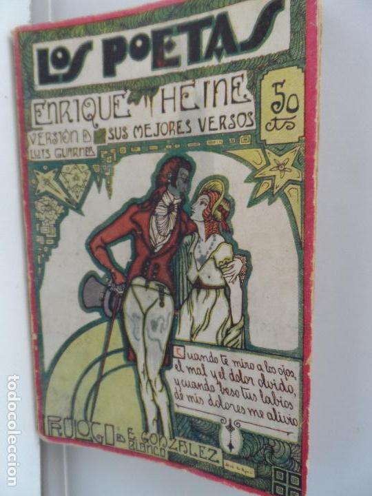 LOS POETAS HEINE SUS MEJORES VERSOS 1929 (Libros Antiguos, Raros y Curiosos - Bellas artes, ocio y coleccionismo - Otros)