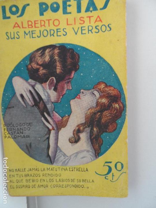 LOS POETAS, ALBERTO LISTA, SUS MEJORES VERSOS, 1929, AÑO II, Nº 44 (Libros Antiguos, Raros y Curiosos - Bellas artes, ocio y coleccionismo - Otros)