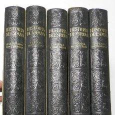 Libros antiguos: HISTORIA DE ESPAÑA (5 TOMOS) (INSTITUTO GALLACH, 1934-1937). Lote 111902823