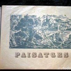 Libros antiguos: PAISATGES - POEMES - 13 LITOGRAFIES DE MARTI BAS - CARTELISTA REPUBLICA GUERRA CIVIL - 1945. Lote 111994387