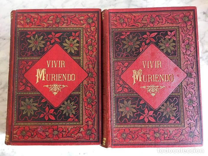 VIVIR MURIENDO, DON F. LUIS OBIOLS, II TOMOS. (Libros Antiguos, Raros y Curiosos - Bellas artes, ocio y coleccionismo - Otros)