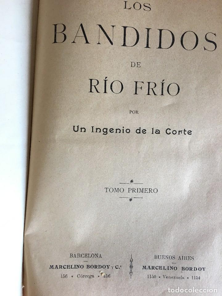 Libros antiguos: LIBRO LOS BANDIDOS DE RÍO FRIÓ, POR UN INGENIO DE LA CORTE, II TOMOS. - Foto 3 - 112000831
