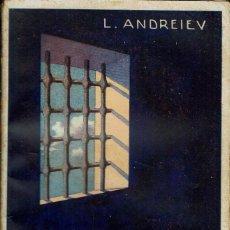 Libros antiguos: MEMORIAS DE UN RECLUSO, POR LEÓNIDAS ANDREIEV. AÑOS ¿20?. (1.3). Lote 112037111