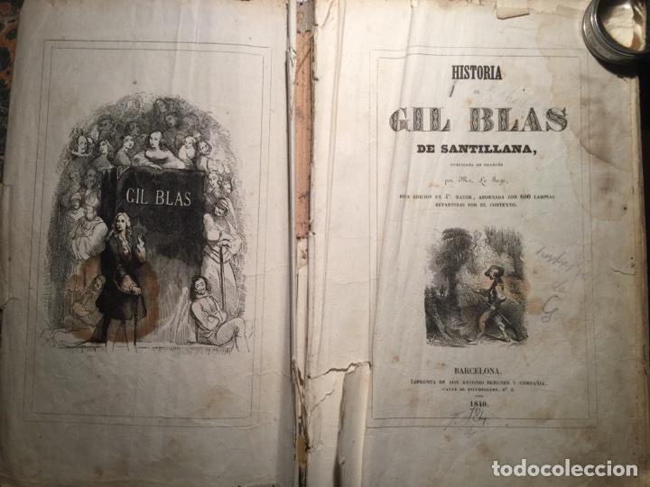 Libros antiguos: Historia de Gil Blas de Santillana. Le Sarge. Barcelona, Bergnes 1840-1841. - Foto 2 - 112064483