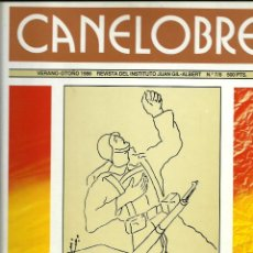 Libros antiguos: CANELOBRE. REVISTA DEL INSTITUTO J. GIL. ALBERT. Lote 112350695