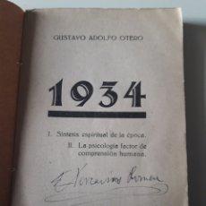 Libros antiguos: 1934 GUSTAVO ADOLFO OTERO SINTESI ESPIRITUAL LA PSICOLOGIA LUIS MIRACLE EDITOR BARCELONA. Lote 112439800
