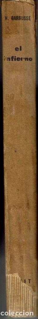 Libros antiguos: EL INFIERNO, POR HENRI BARBUSSE. AÑO 1931. (1.3) - Foto 3 - 112441403