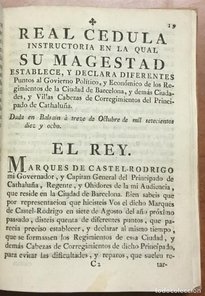 Libros antiguos: NUEVA PLANTA DE LA REAL AUDIENCIA DEL PRINCIPADO DE CATALUÑA, ESTABLECIDA POR SU MAGESTAD, Con Decre - Foto 4 - 112436507