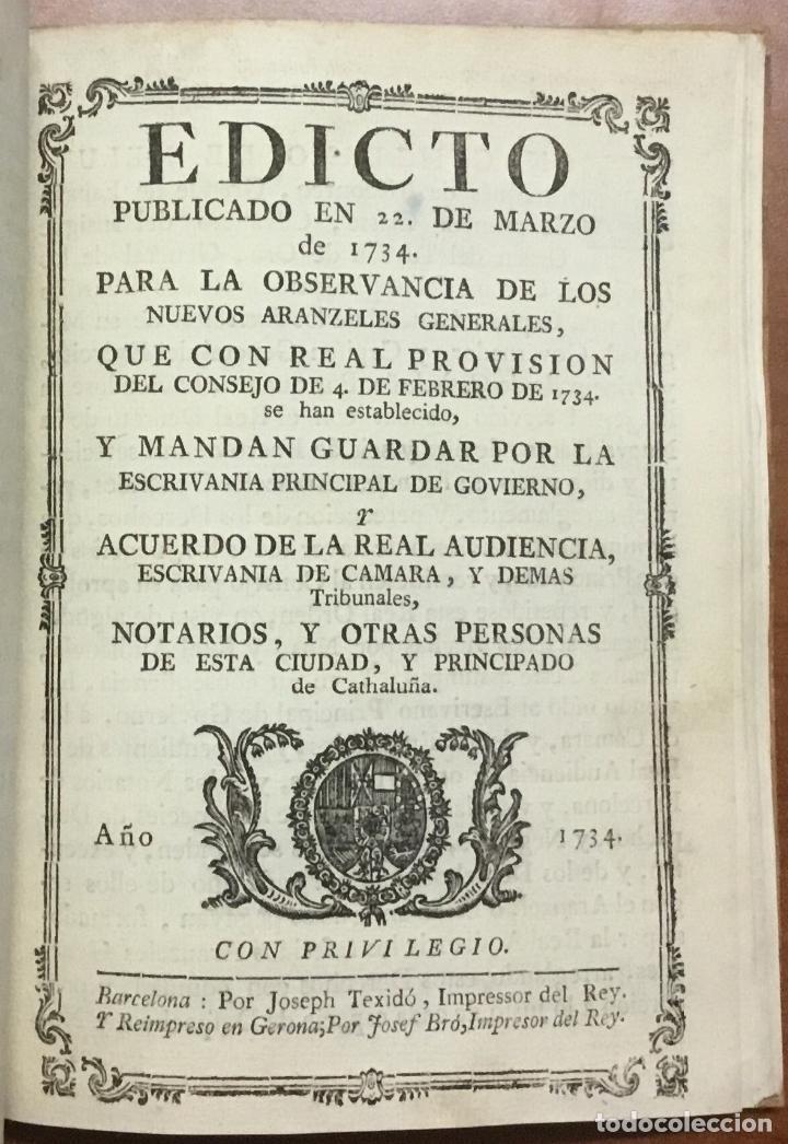 Libros antiguos: NUEVA PLANTA DE LA REAL AUDIENCIA DEL PRINCIPADO DE CATALUÑA, ESTABLECIDA POR SU MAGESTAD, Con Decre - Foto 6 - 112436507