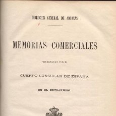 Libros antiguos: MEMORIAS COMERCIALES DEL CUERPO CONSULAR DE ESPAÑA EN EL EXTRANJERO (1876) 2 TOMOS EN 1 VOL. Lote 112499091