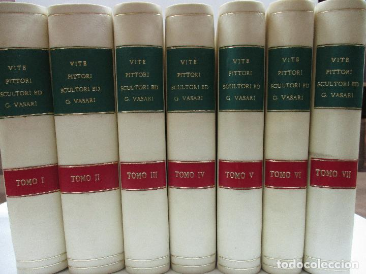 Libros antiguos: VITE DE PIU ECCELLENTI PITTORI SCULTORI ED ARCHITETTI. - VASARI, Giorgio. 1770-1772. 7 VOLS. - Foto 2 - 109021730
