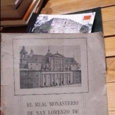 Libros antiguos: EL REAL MONASTERIO DE SAN LORENZO DE EL ESCORIAL.GUIA, 1915, 19 X 14 CM., RÚSTICA EDITORIAL,. Lote 112666075