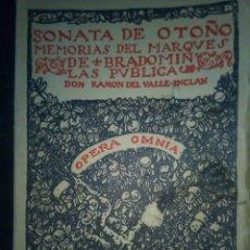 Libros antiguos: SONATA DE OTOÑO MEMORIAS DEL MARQUES DE BRADOMIN. Lote 113006919