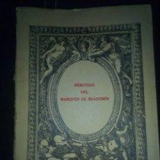 Libros antiguos: MEMORIAS DEL MARQUES DE BRADOMIN RARO Y ANTIGUO. Lote 113007635