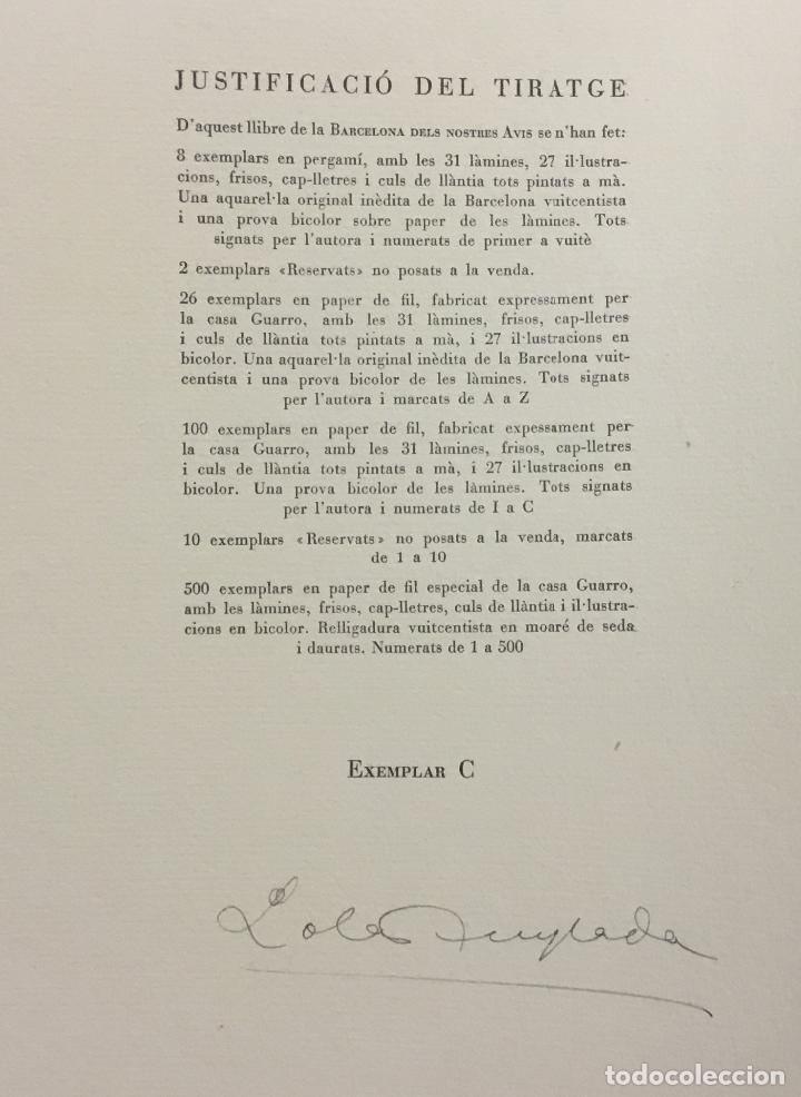 Libros antiguos: LA BARCELONA DELS NOSTRES AVIS. - ANGLADA, Lola. [Bibliofília.] - Foto 4 - 109023435