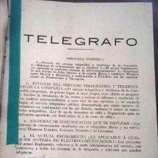 Libros antiguos: TELEGRAFOS 4 LIBROS ANTIGUOS EN UN TOMO. Lote 113136187