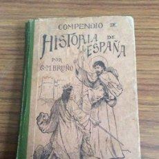 Libros antiguos: COMPENDIO HISTORIA DE ESPAÑA-G. M. BRUÑO-PRIMER CURSO-AÑO 1922.. Lote 113145158