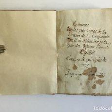 Libros antiguos: MANUSCRITO EXTRACTOS DE LOS TRES TOMOS HISTORIA DE LA CONJURACION DE LLUIS FELIPE...DUQUE DE ORLEANS. Lote 109021508