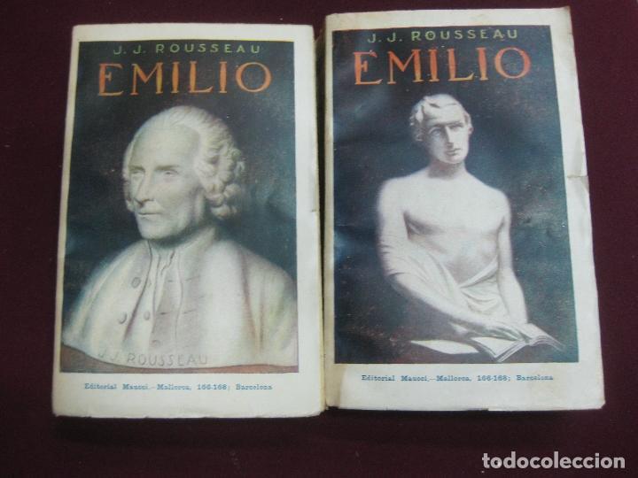 J.J. ROUSSEAU. EMILIO 2 TOMOS. CASA EDITORIAL MAUCCI. 1914. (Libros Antiguos, Raros y Curiosos - Pensamiento - Otros)
