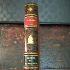 Libros antiguos: M. DULAGUE, LEÇONS DE NAVIGATION 1814. NAVEGACIÓN ASTRONOMIA. Lote 113209891