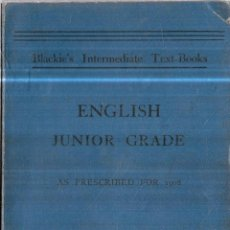Libros antiguos: ENGLISH JUNIOR ,PART I, LIFE OF NAPOLEON BUONAPARTE. BY JOHN GIBSON LOCKHART. AS PRESCRIBED FOR 1908. Lote 113241367
