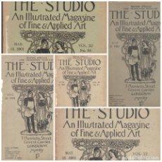 Libros antiguos: EXTRAORDINARIO LOTE REVISTAS THE STUDIO AÑO 1900,1901,1902 Y 1903 BELLAS ARTES Y ARTES DECORATIVAS. Lote 113280651