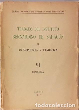 Libros antiguos: Etnología VI . (M. 1948) Hugo Obermaier; Indumentaria vasca; Indios cuaiqueres; Etc. - Foto 4 - 113373755