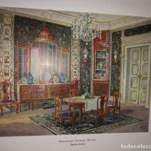Decoración de castillos y casas alemanas. 100 láminas a color. Farbige Raumkunst