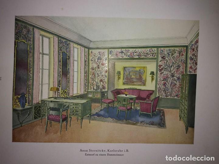 Libros antiguos: Decoración de castillos y casas alemanas. 100 láminas a color. Farbige Raumkunst - Foto 2 - 113529067