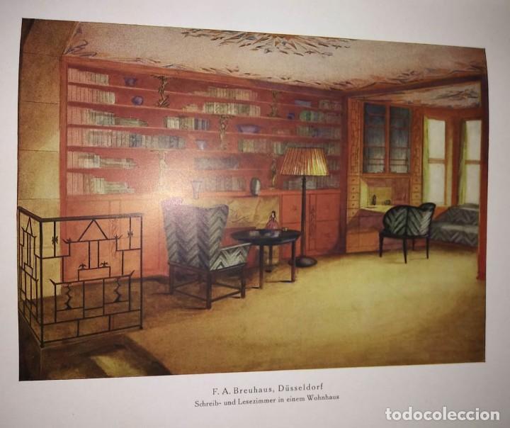 Libros antiguos: Decoración de castillos y casas alemanas. 100 láminas a color. Farbige Raumkunst - Foto 3 - 113529067