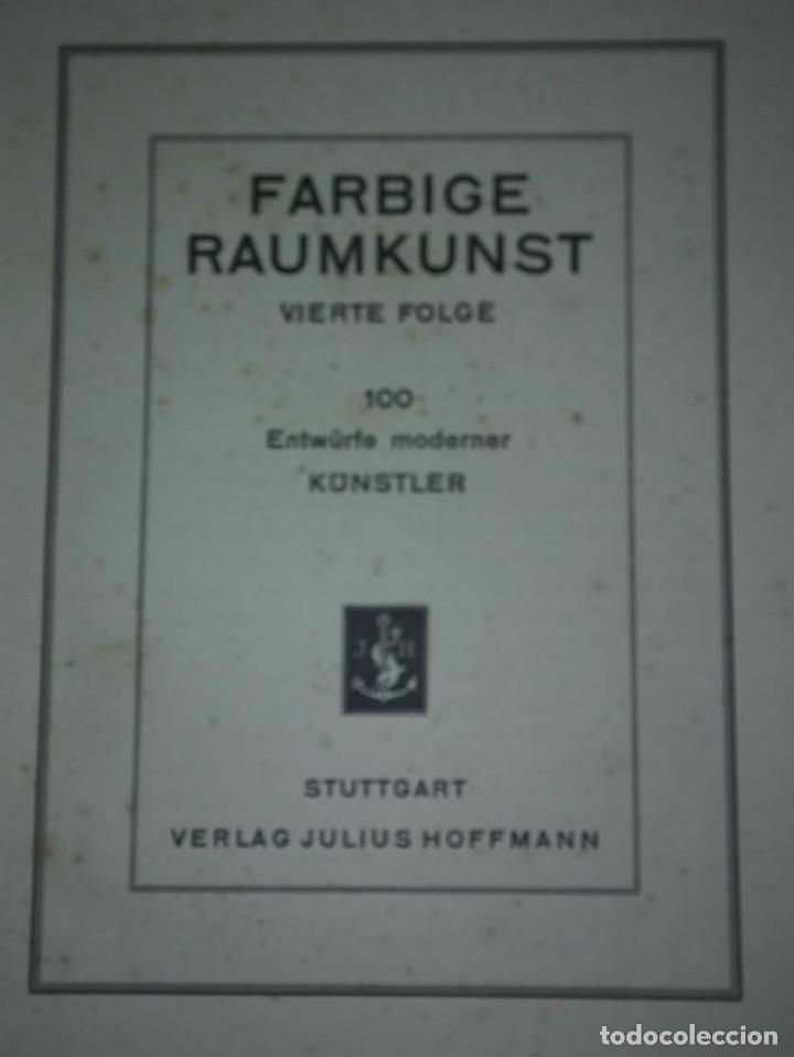 Libros antiguos: Decoración de castillos y casas alemanas. 100 láminas a color. Farbige Raumkunst - Foto 4 - 113529067