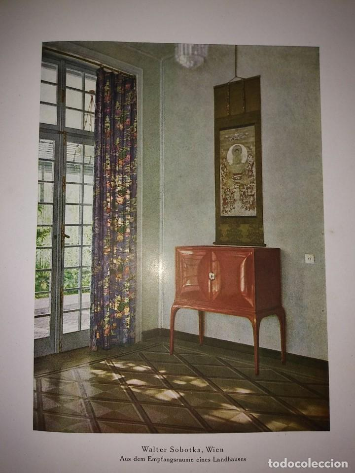 Libros antiguos: Decoración de castillos y casas alemanas. 100 láminas a color. Farbige Raumkunst - Foto 5 - 113529067