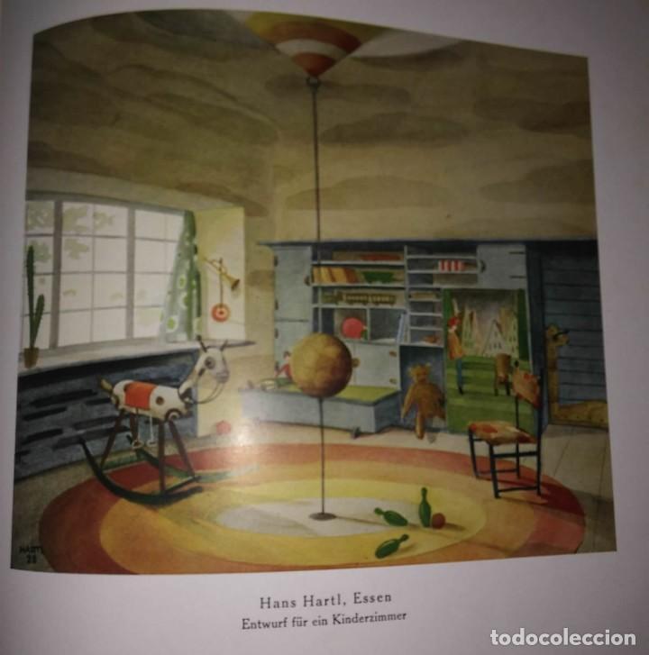 Libros antiguos: Decoración de castillos y casas alemanas. 100 láminas a color. Farbige Raumkunst - Foto 6 - 113529067
