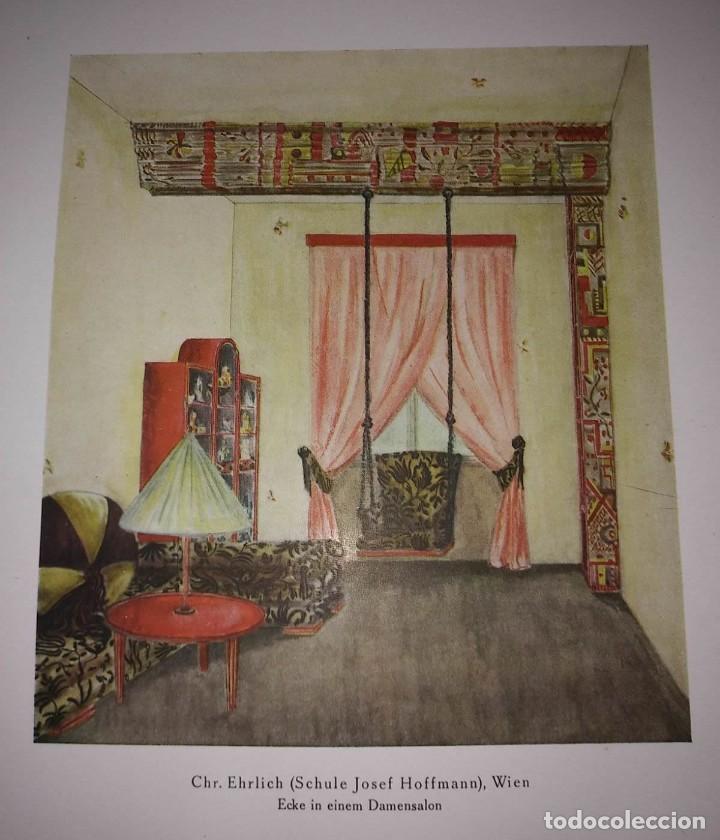 Libros antiguos: Decoración de castillos y casas alemanas. 100 láminas a color. Farbige Raumkunst - Foto 8 - 113529067