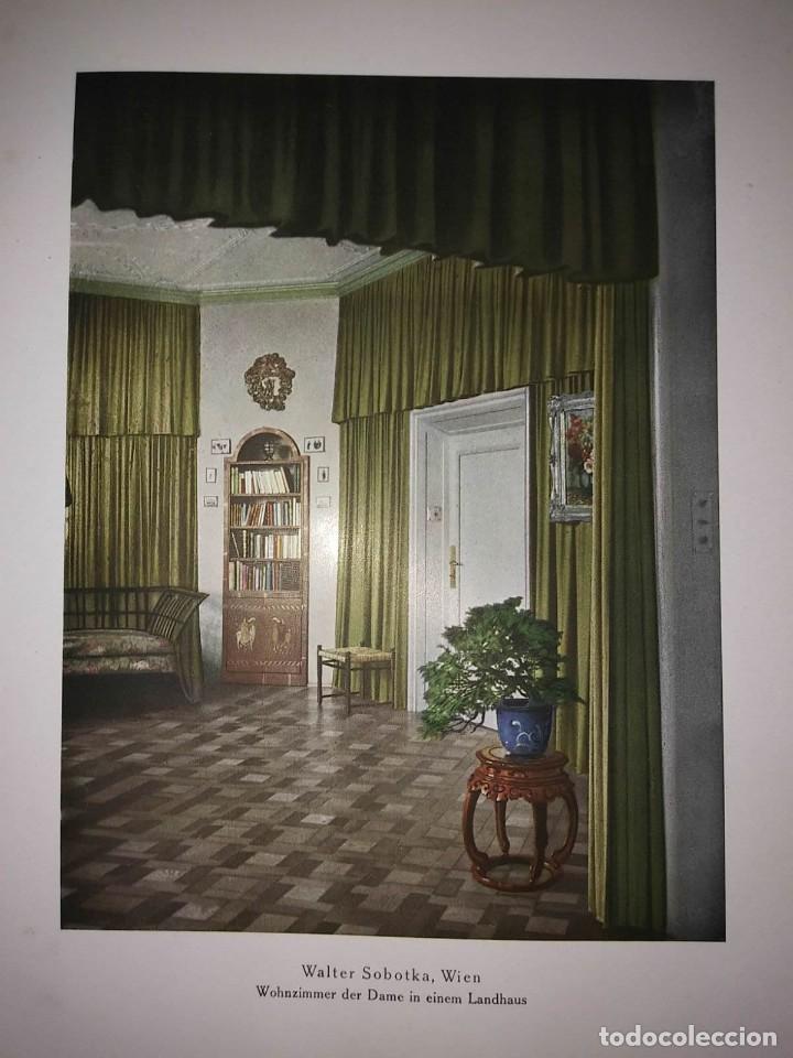 Libros antiguos: Decoración de castillos y casas alemanas. 100 láminas a color. Farbige Raumkunst - Foto 10 - 113529067