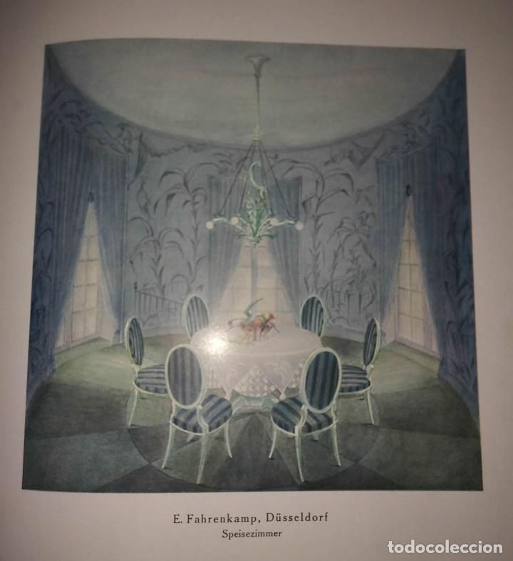 Libros antiguos: Decoración de castillos y casas alemanas. 100 láminas a color. Farbige Raumkunst - Foto 11 - 113529067