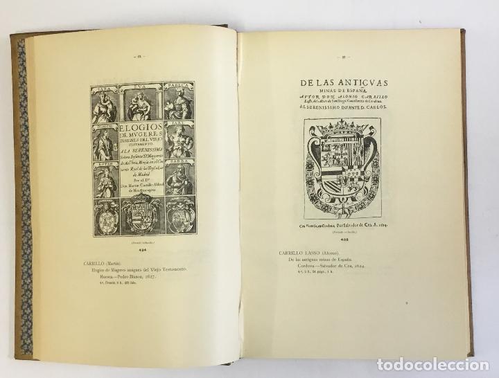 Libros antiguos: MANUAL GRÁFICO-DESCRIPTIVO DEL BIBLIÓFILO HISPANO-AMERICANO (1475-1850). - VINDEL, Francisco. - Foto 8 - 109022671